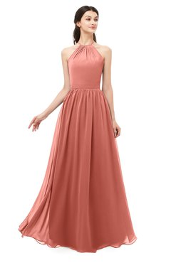 ColsBM Irene Crabapple Bridesmaid Dresses Sleeveless Halter Criss-cross Straps Sexy A-line Sash