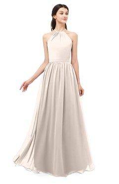 ColsBM Irene Cream Pink Bridesmaid Dresses Sleeveless Halter Criss-cross Straps Sexy A-line Sash