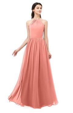 ColsBM Irene Desert Flower Bridesmaid Dresses Sleeveless Halter Criss-cross Straps Sexy A-line Sash