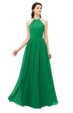 ColsBM Irene Green Bridesmaid Dresses Sleeveless Halter Criss-cross Straps Sexy A-line Sash