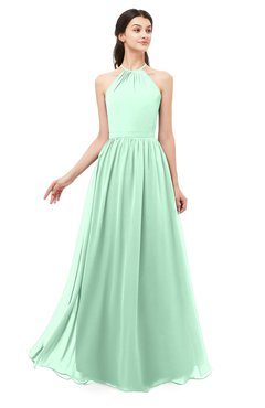 ColsBM Irene Honeydew Bridesmaid Dresses Sleeveless Halter Criss-cross Straps Sexy A-line Sash