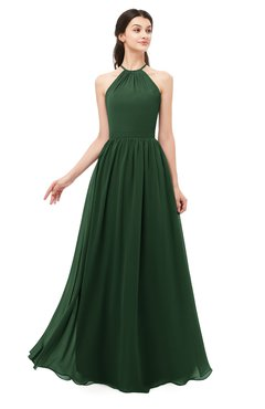 ColsBM Irene Hunter Green Bridesmaid Dresses Sleeveless Halter Criss-cross Straps Sexy A-line Sash