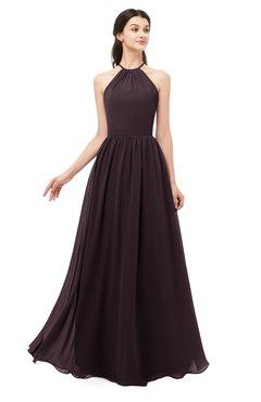 ColsBM Irene Italian Plum Bridesmaid Dresses Sleeveless Halter Criss-cross Straps Sexy A-line Sash
