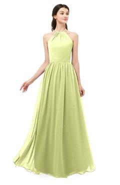 ColsBM Irene Lime Green Bridesmaid Dresses Sleeveless Halter Criss-cross Straps Sexy A-line Sash