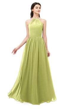 ColsBM Irene Linden Green Bridesmaid Dresses Sleeveless Halter Criss-cross Straps Sexy A-line Sash