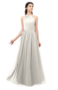 ColsBM Irene Off White Bridesmaid Dresses Sleeveless Halter Criss-cross Straps Sexy A-line Sash