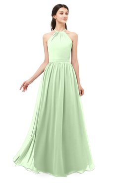 ColsBM Irene Pale Green Bridesmaid Dresses Sleeveless Halter Criss-cross Straps Sexy A-line Sash