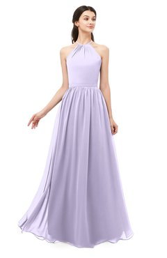 ColsBM Irene Pastel Lilac Bridesmaid Dresses Sleeveless Halter Criss-cross Straps Sexy A-line Sash