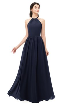 ColsBM Irene Peacoat Bridesmaid Dresses Sleeveless Halter Criss-cross Straps Sexy A-line Sash