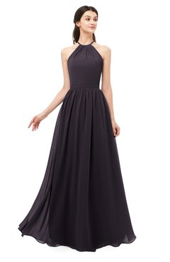 ColsBM Irene Perfect Plum Bridesmaid Dresses Sleeveless Halter Criss-cross Straps Sexy A-line Sash