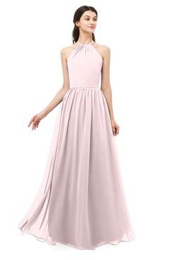 ColsBM Irene Petal Pink Bridesmaid Dresses Sleeveless Halter Criss-cross Straps Sexy A-line Sash