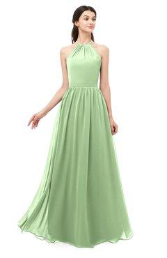 ColsBM Irene Sage Green Bridesmaid Dresses Sleeveless Halter Criss-cross Straps Sexy A-line Sash
