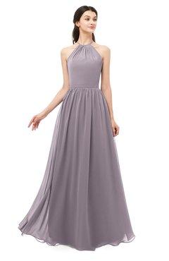 ColsBM Irene Sea Fog Bridesmaid Dresses Sleeveless Halter Criss-cross Straps Sexy A-line Sash