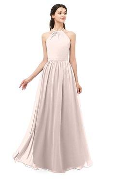 ColsBM Irene Silver Peony Bridesmaid Dresses Sleeveless Halter Criss-cross Straps Sexy A-line Sash