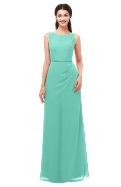 d5cd5a1d9594 ColsBM Livia Mint Green Bridesmaid Dresses Sleeveless A-line Traditional  Pick up Floor Length Sabrina