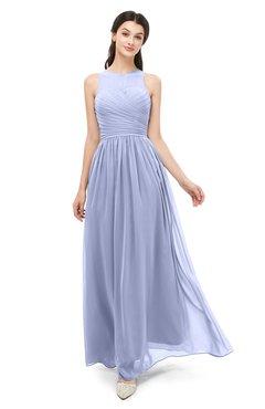 198dd72907fa ColsBM Astrid Lavender Bridesmaid Dresses A-line Ruching Sheer Floor Length  Zipper Mature