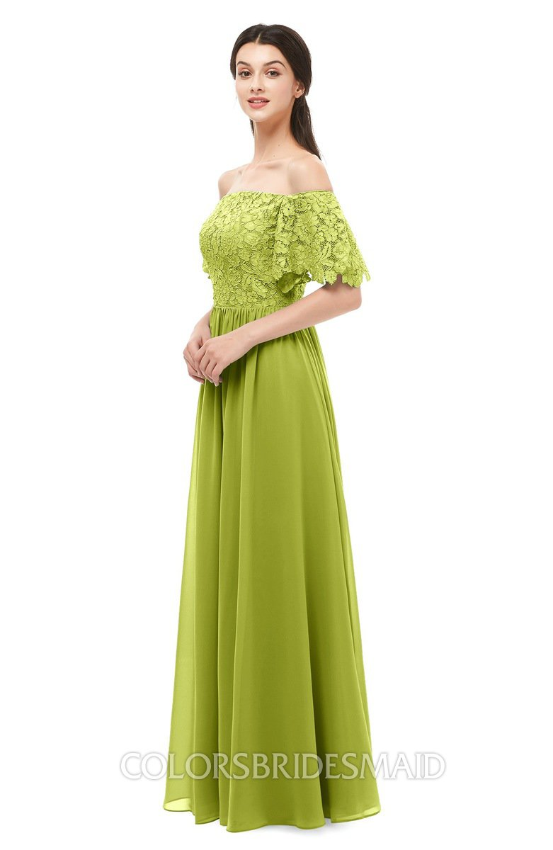 cdd6b9a76ce6e ColsBM Ingrid Green Oasis Bridesmaid Dresses Half Backless Glamorous A-line  Strapless Short Sleeve Pleated