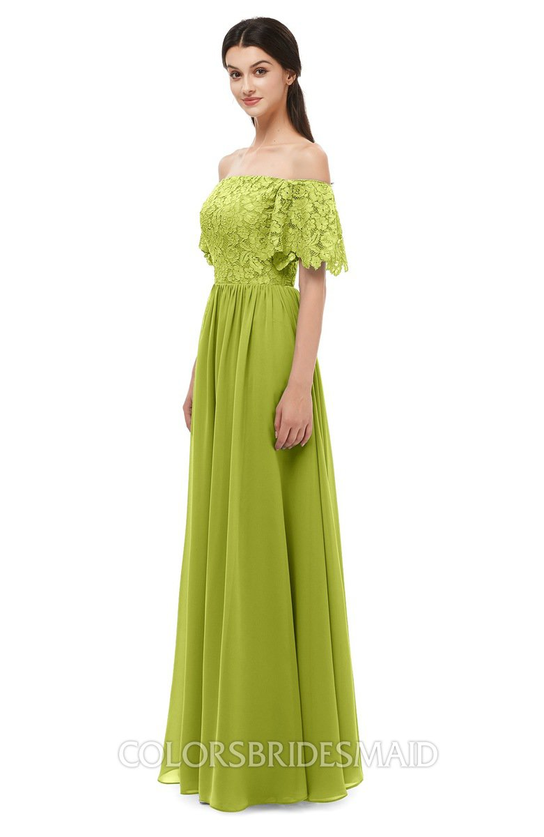 97e5290b5984 ColsBM Ingrid Green Oasis Bridesmaid Dresses Half Backless Glamorous A-line  Strapless Short Sleeve Pleated