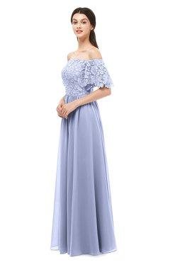 ColsBM Ingrid Lavender Bridesmaid Dresses Half Backless Glamorous A-line Strapless Short Sleeve Pleated