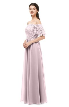 ColsBM Ingrid Pale Lilac Bridesmaid Dresses Half Backless Glamorous A-line Strapless Short Sleeve Pleated