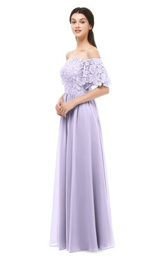 ColsBM Ingrid Pastel Lilac Bridesmaid Dresses Half Backless Glamorous A-line Strapless Short Sleeve Pleated