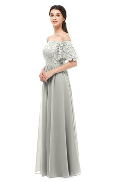 ColsBM Ingrid Platinum Bridesmaid Dresses Half Backless Glamorous A-line Strapless Short Sleeve Pleated