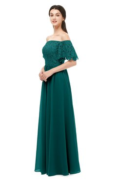 ColsBM Ingrid Shaded Spruce Bridesmaid Dresses Half Backless Glamorous A-line Strapless Short Sleeve Pleated