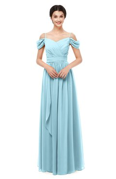 ColsBM Skylar Aqua Bridesmaid Dresses Spaghetti Sexy Zip up Floor Length A-line Pleated