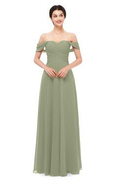 ColsBM Lydia Bog Bridesmaid Dresses Sweetheart A-line Floor Length Modern Ruching Short Sleeve