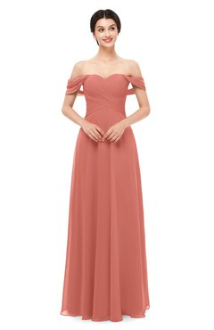 ColsBM Lydia Crabapple Bridesmaid Dresses Sweetheart A-line Floor Length Modern Ruching Short Sleeve