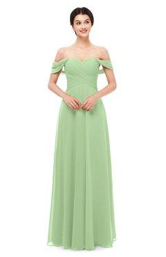 ColsBM Lydia Gleam Bridesmaid Dresses Sweetheart A-line Floor Length Modern Ruching Short Sleeve