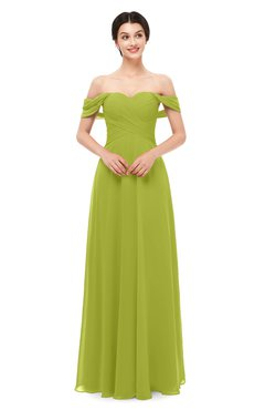 42480b8a56fc8 ColsBM Lydia Green Oasis Bridesmaid Dresses Sweetheart A-line Floor Length  Modern Ruching Short Sleeve