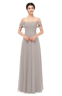 ColsBM Lydia Mushroom Bridesmaid Dresses Sweetheart A-line Floor Length Modern Ruching Short Sleeve