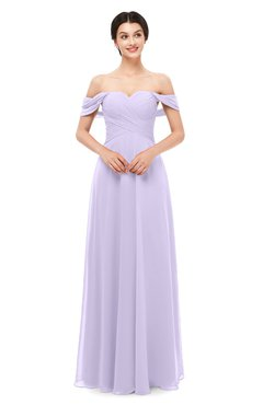 ColsBM Lydia Pastel Lilac Bridesmaid Dresses Sweetheart A-line Floor Length Modern Ruching Short Sleeve