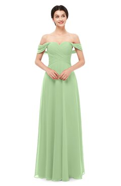 99b4269aa184 ColsBM Lydia Sage Green Bridesmaid Dresses Sweetheart A-line Floor Length  Modern Ruching Short Sleeve