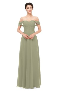 ColsBM Lydia Sponge Bridesmaid Dresses Sweetheart A-line Floor Length Modern Ruching Short Sleeve