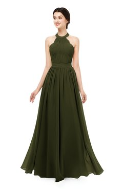 ColsBM Marley Beech Bridesmaid Dresses Floor Length Illusion Sleeveless Ruching Romantic A-line