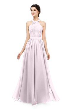 ColsBM Marley Blush Bridesmaid Dresses Floor Length Illusion Sleeveless Ruching Romantic A-line