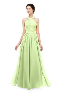 ColsBM Marley Butterfly Bridesmaid Dresses Floor Length Illusion Sleeveless Ruching Romantic A-line