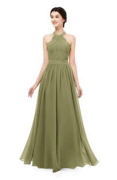ColsBM Marley Cedar Bridesmaid Dresses Floor Length Illusion Sleeveless Ruching Romantic A-line