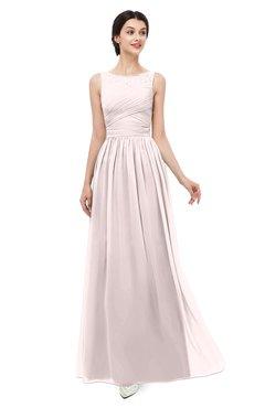 bd775c583df ColsBM Skyler Light Pink Bridesmaid Dresses Sheer A-line Sleeveless Classic  Ruching Zipper