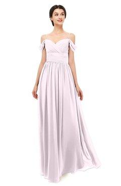 ColsBM Angel Blush Bridesmaid Dresses Short Sleeve Elegant A-line Ruching Floor Length Backless