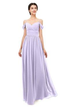 eb29dfc9568d ColsBM Angel Pastel Lilac Bridesmaid Dresses Short Sleeve Elegant A-line  Ruching Floor Length Backless