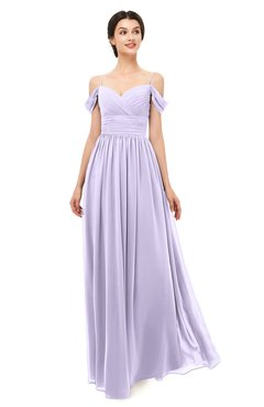 ColsBM Angel Pastel Lilac Bridesmaid Dresses Short Sleeve Elegant A-line Ruching Floor Length Backless