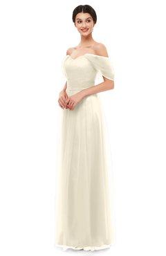 ColsBM Haven Dew Bridesmaid Dresses Zip up Off The Shoulder Sexy Floor Length Short Sleeve A-line