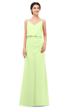 ColsBM Sasha Butterfly Bridesmaid Dresses Column Simple Floor Length Sleeveless Zip up V-neck