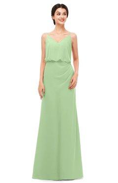ColsBM Sasha Gleam Bridesmaid Dresses Column Simple Floor Length Sleeveless Zip up V-neck