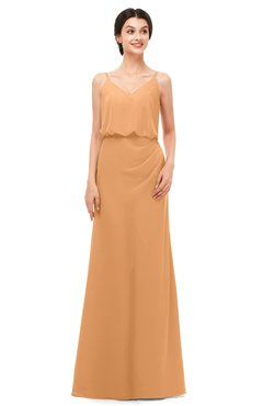 ColsBM Sasha Pheasant Bridesmaid Dresses Column Simple Floor Length Sleeveless Zip up V-neck