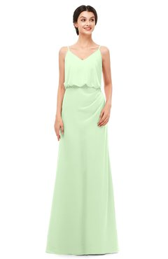 ColsBM Sasha Seacrest Bridesmaid Dresses Column Simple Floor Length Sleeveless Zip up V-neck