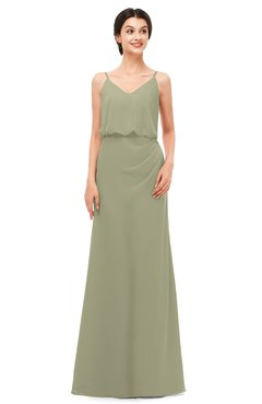 ColsBM Sasha Sponge Bridesmaid Dresses Column Simple Floor Length Sleeveless Zip up V-neck